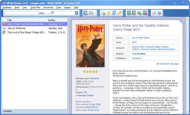 All My Books screenshot (620 pix)
