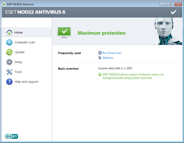 NOD32 Antivirus 6.0 screenshot (620 pix)