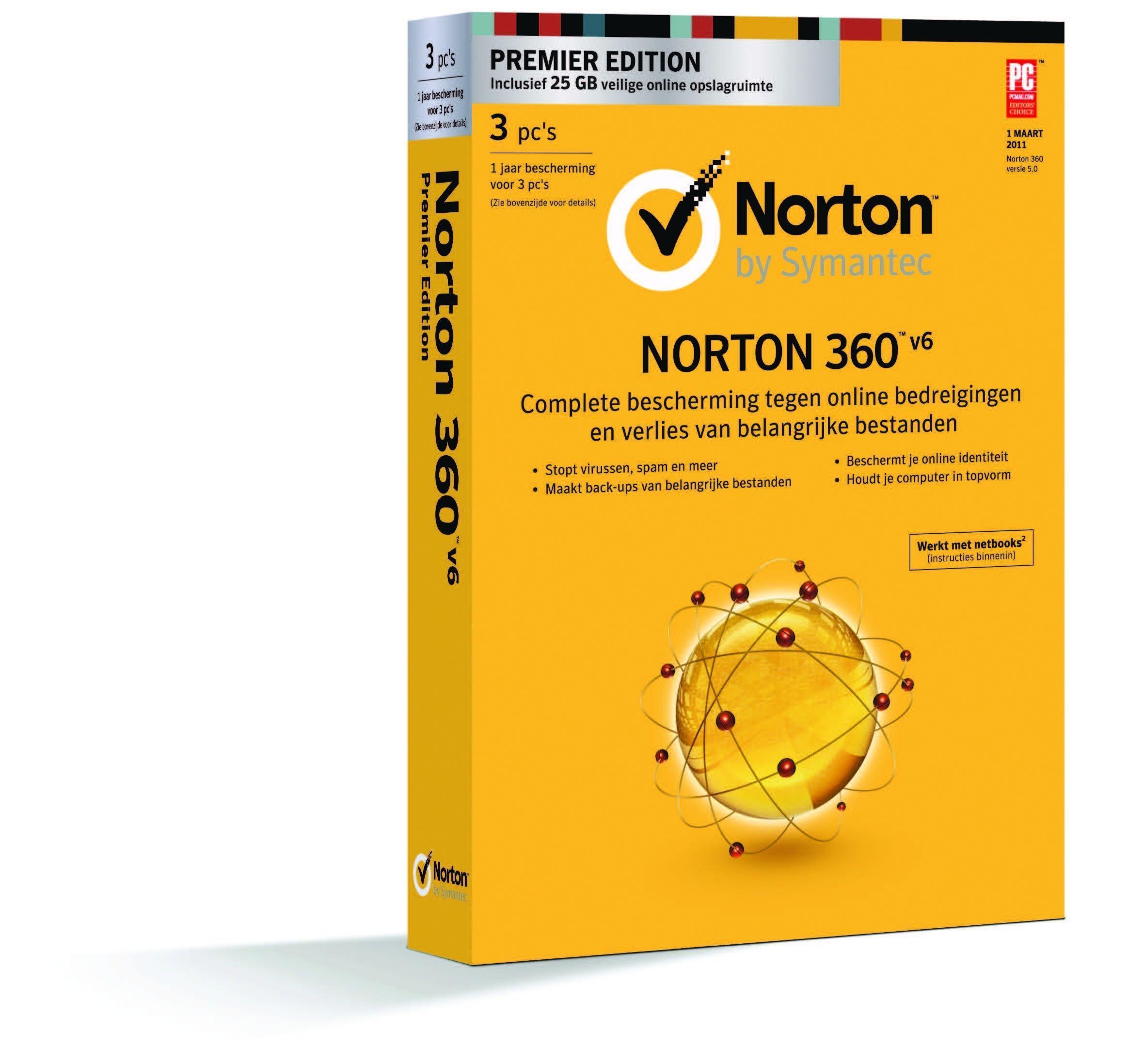 Norton 360 2013 Premier Edition Upgrade BNL - Specificaties - Tweakers