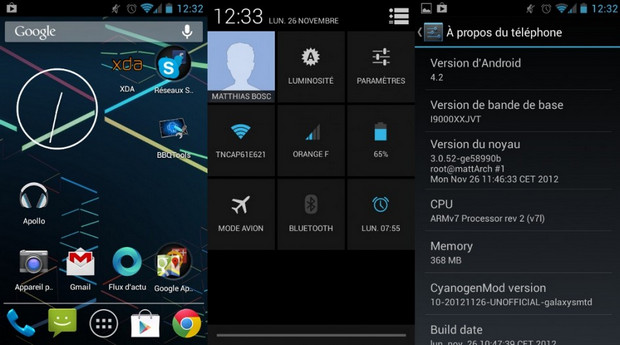 CyanogenMod 10.1 screenshot (620 pix)