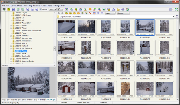 FastStone Image Viewer screenshot (620 pix)
