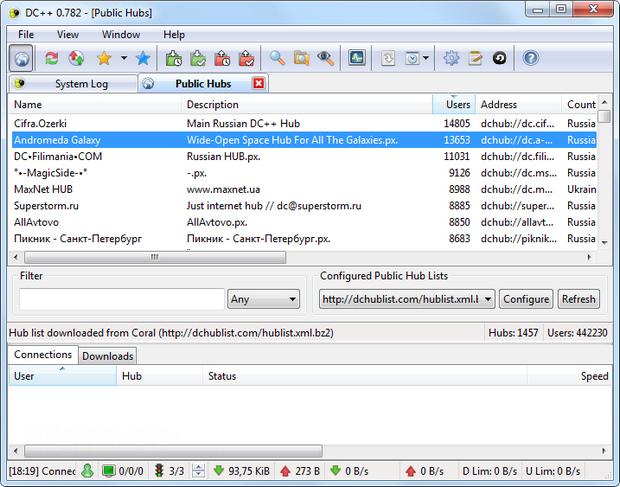 DC++ screenshot (620 pix)
