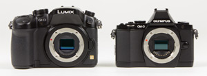 Lumix GH3 vs Olympus E-M5 side-by-side