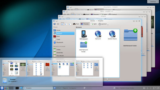 Task grouping in Plasma Workspaces 4.10 screenshot (620 pix)
