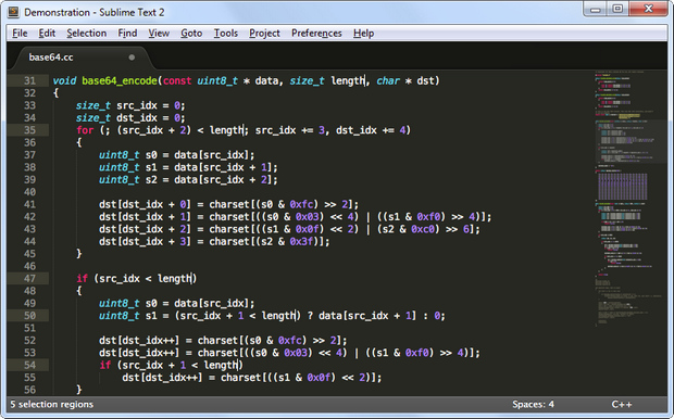 Sublime Text 2.0 screenshot (620 pix)