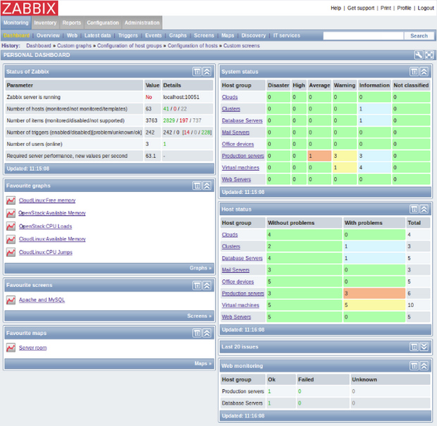 Zabbix screenshot (620 pix)