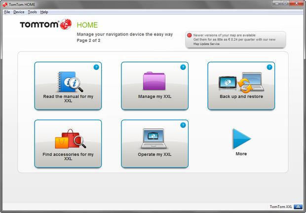 TomTom Home screenshot (620 pix)