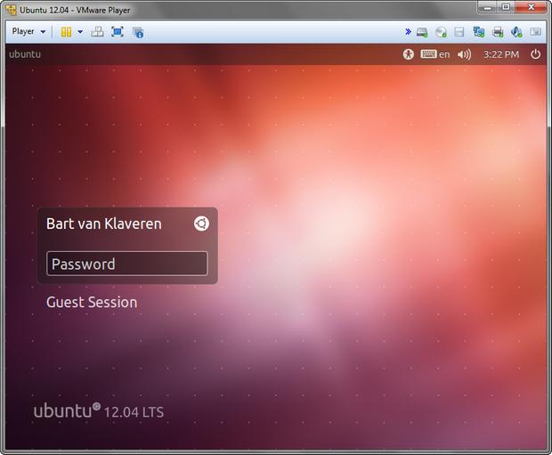 VMware Player 5.0 screenshot (620 pix)