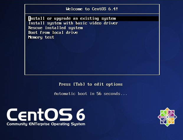 CentOS 6.4 installatie screenshot (620 pix)