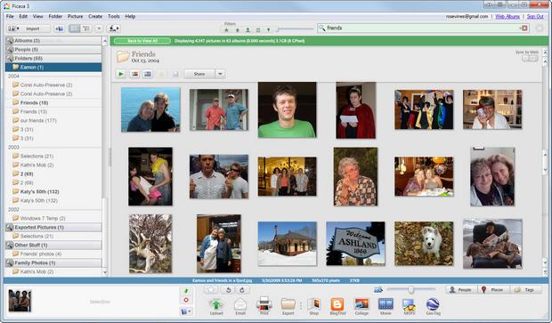 Google Picasa screenshot (620 pix)