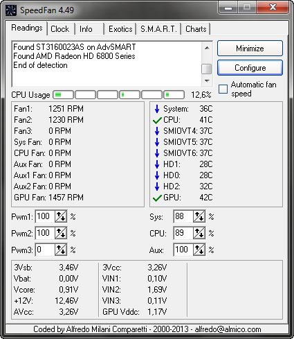 SpeedFan screenshot