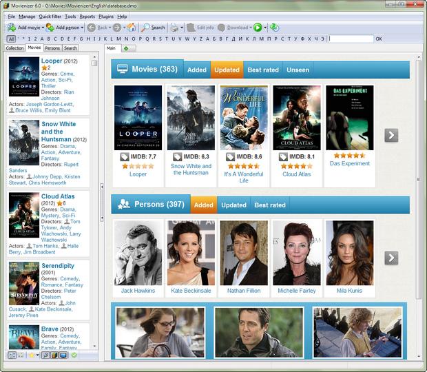Movienizer 6.0 screenshot (620 pix)