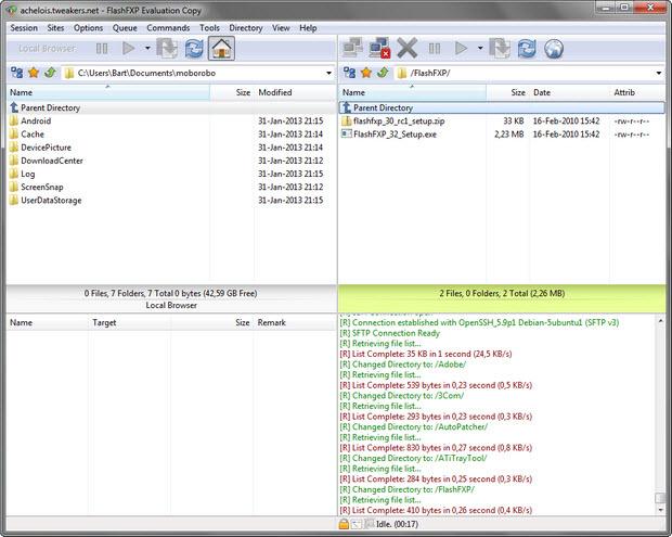FlashFXP screenshot (620 pix)