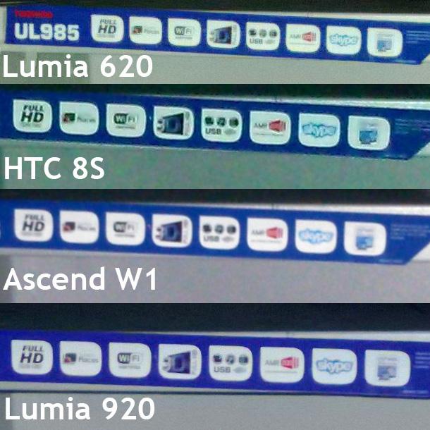 Lumia 620 vs HTC 8S vs Huawei Ascend W1