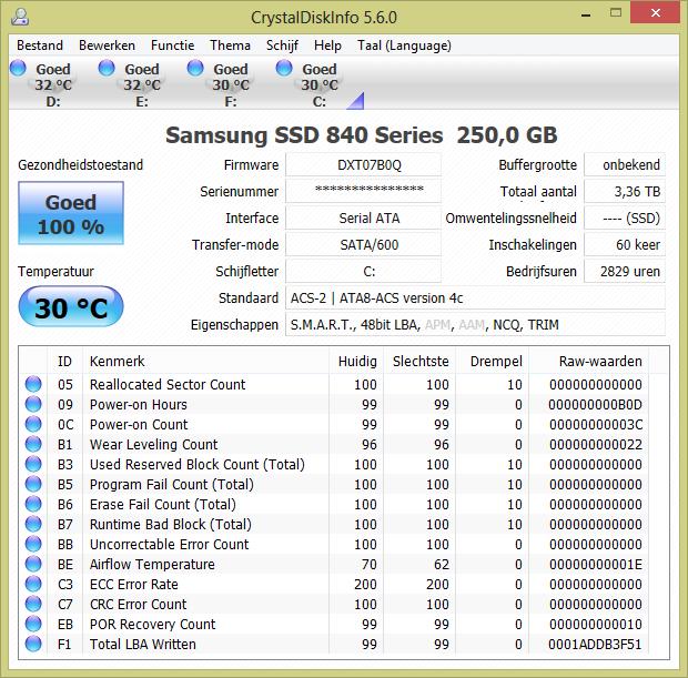 CrystalDiskInfo screenshot (620 pix)