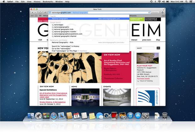 Apple Safari screenshot (620 pix)
