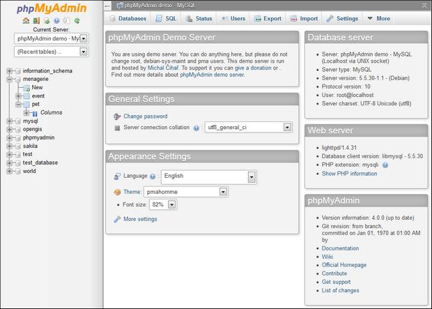 phpMyAdmin screenshot (620 pix)