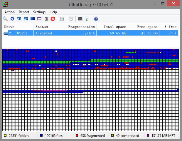 UltraDefrag 7.0 bèta 1 screenshot