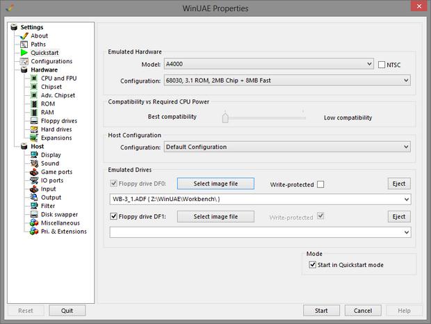 WinUAE screenshot (620 pix)
