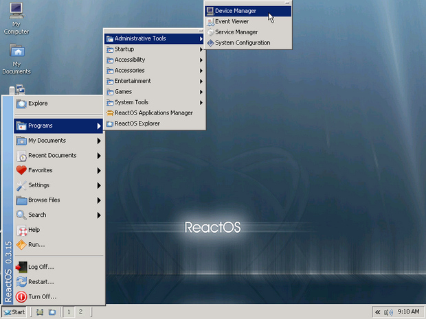 ReactOS screenshot (620 pix)
