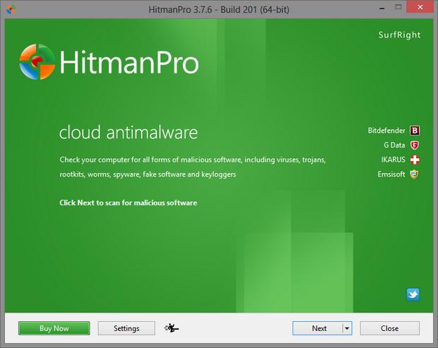 HitmanPro 3.7.5 bèta screenshot (620 pix)