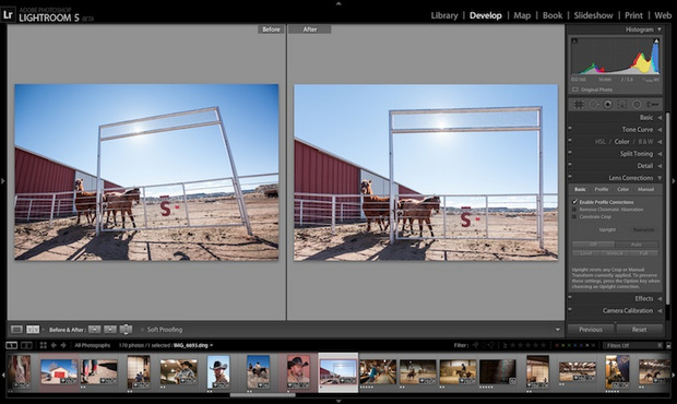 Adobe Photoshop Lightroom 5.0 screenshot (620 pix)