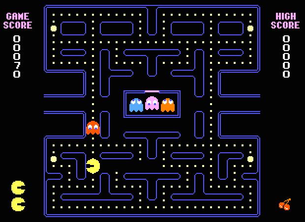 Pacman screenshot (620 pix)