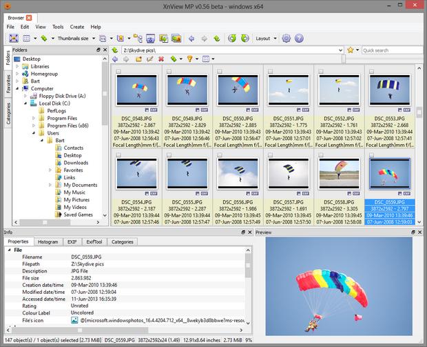 XnViewMP 0.56 screenshot (620 pix)