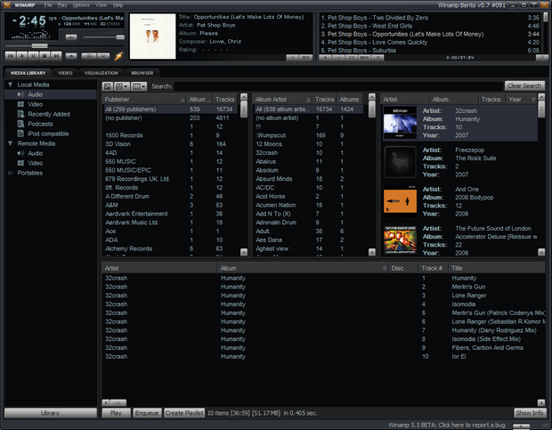 Winamp screenshot (620 pix)