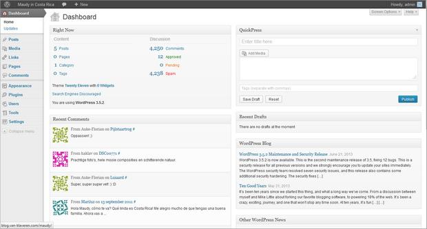 WordPress screenshot (620 pix)