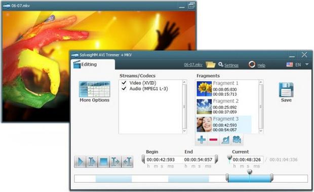 SolveigMM AVI Trimmer 2.0 screenshot (620 pix)