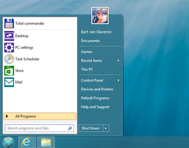 Classic Shell screenshot