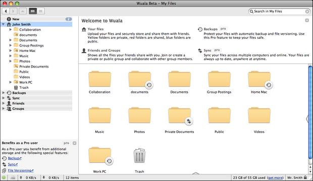 Wuala screenshot (620 pix)