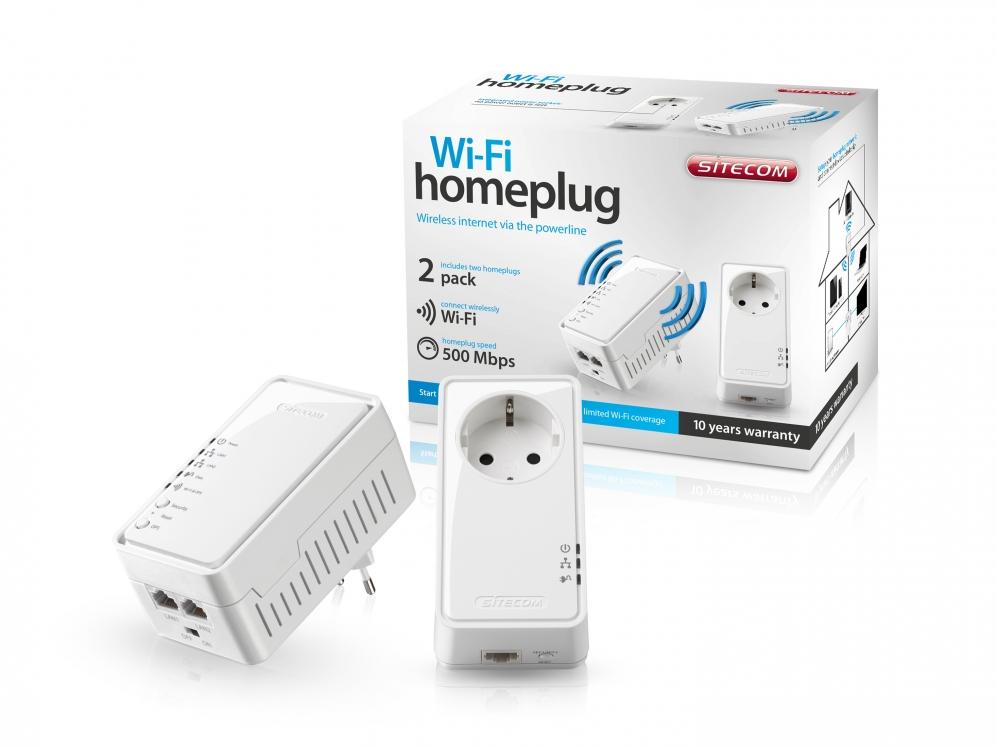 sitecom wi fi homeplug 500mbps dual pack nl eu stekker specificaties tweakers. Black Bedroom Furniture Sets. Home Design Ideas