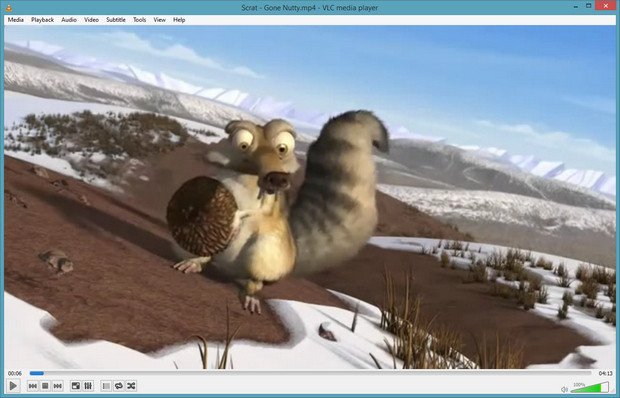 VLC Media Player 2.1.0 screenshot (620 pix)