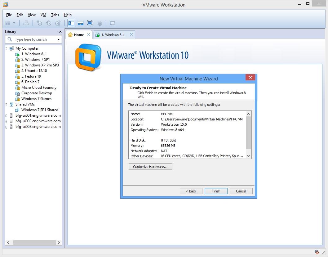 Software-update: VMware Workstation 10 0 2 build 1744117