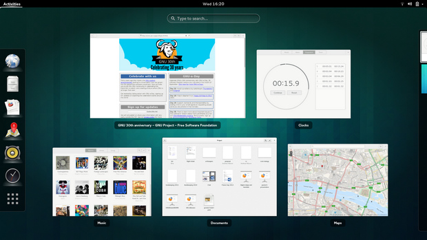 Gnome 3.10 screenshot