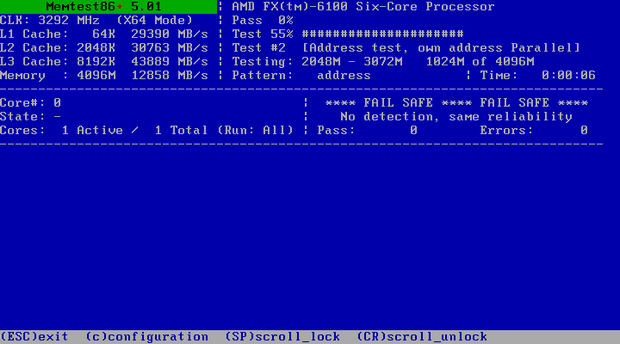 Memtest86+ 5.01 screenshot (620 pix)