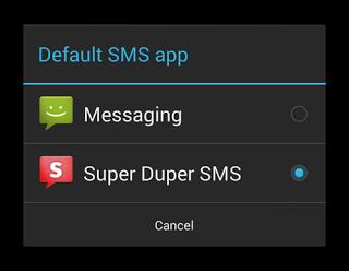 Android: sms-app kiezen