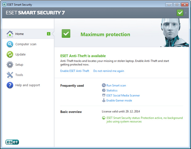 NOD32 Smart Security 7.0 screenshot (620 pix)