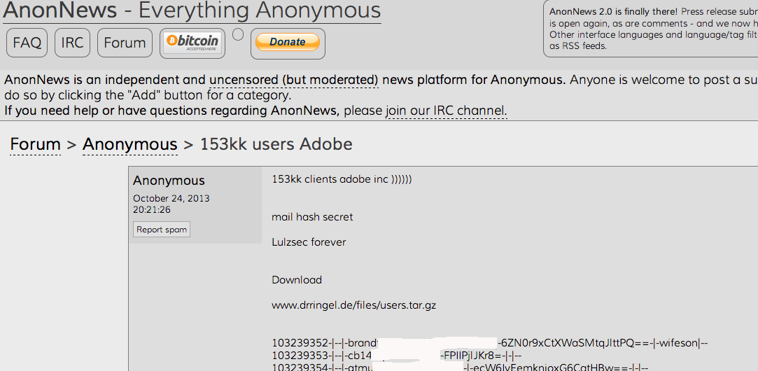 AnonNews: accounts Adobe