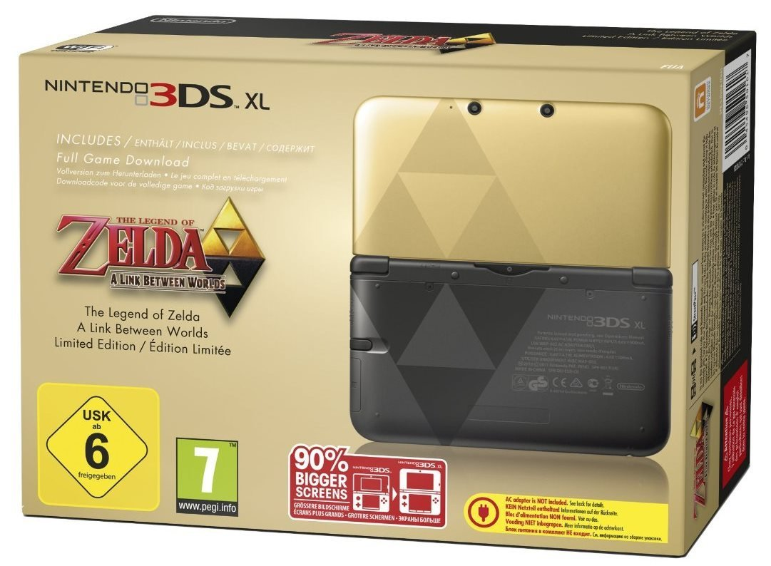 Nintendo 3ds xl zelda a link between worlds goud zwart for Housse 3ds xl zelda