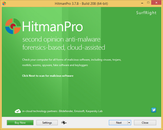 HitmanPro 3.7.8 screenshot (620 pix)