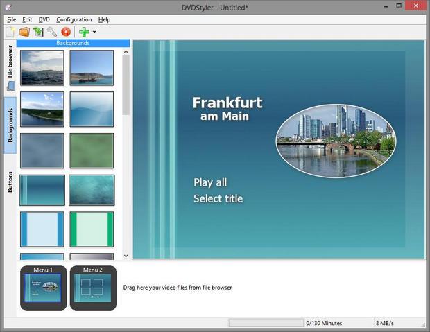 DVDStyler screenshot (620 pix)
