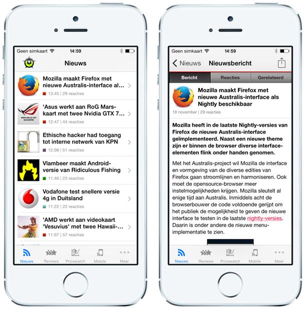 Tweakers iOS-app