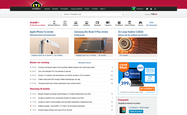 Aangepaste frontpage layout