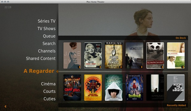 Plex Home Theater screenshot (620 pix)