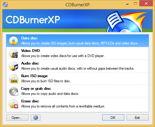 CDBurnerXP screenshot