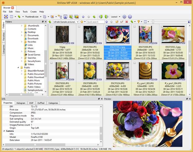 XnViewMP 0.64 screenshot (620 pix)
