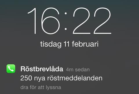 Lek in iOS toont niet-verwijderbare notificatie op lockscreen